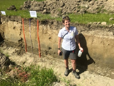 Carol Smith at Soil Judging Comp 2016